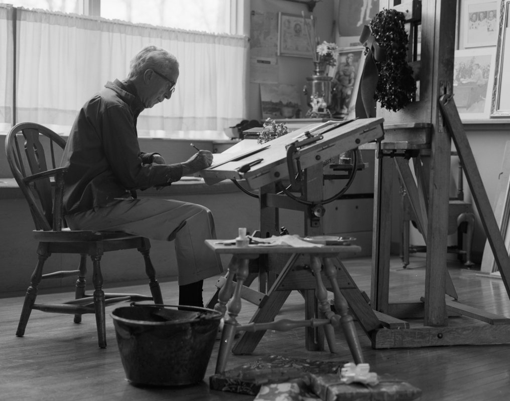 Norman Rockwell at Desk Image