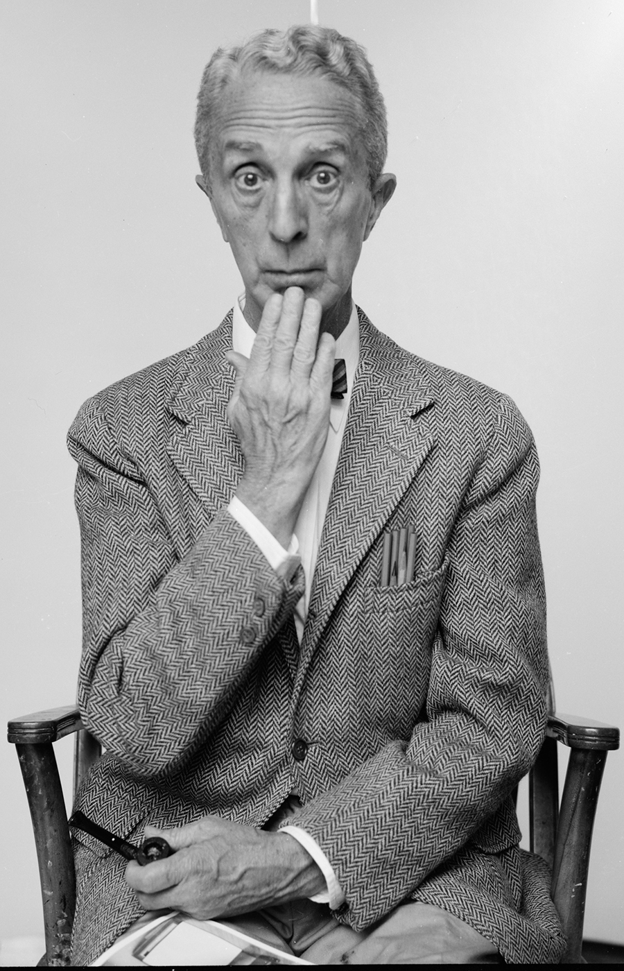 Norman Rockwell Posing in Chair