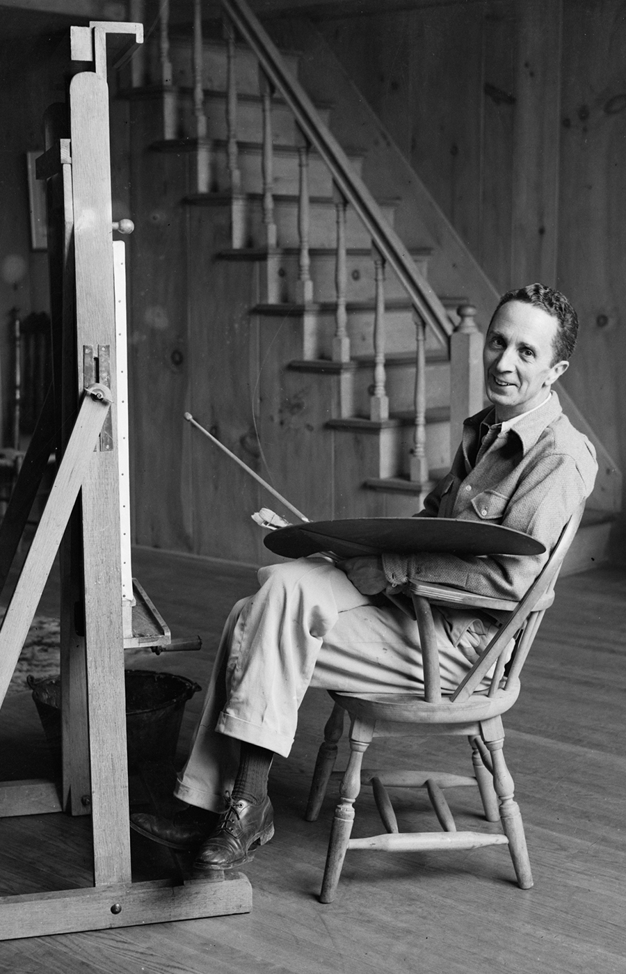 Norman Rockwell Sitting at an Easel
