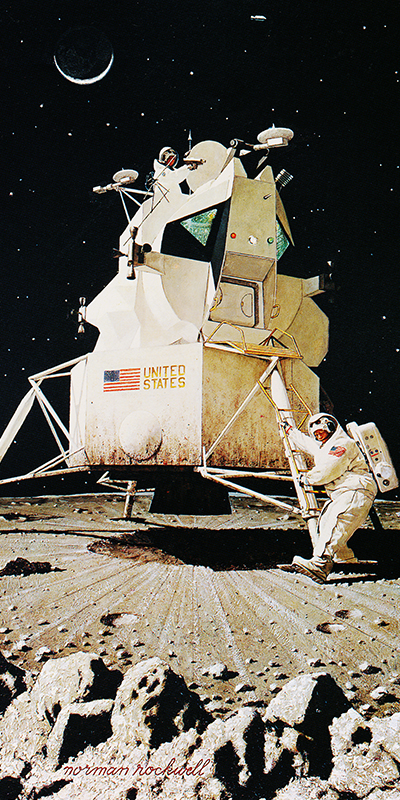 Norman Rockwell Lunar Module Painting