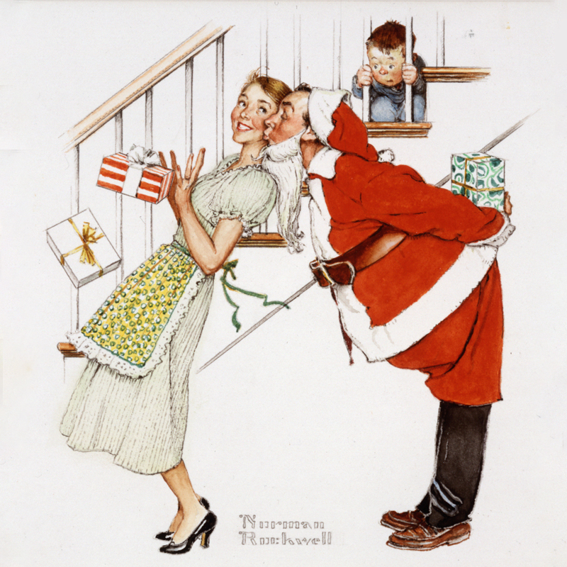 Norman Rockwell Painting, Santa Claus