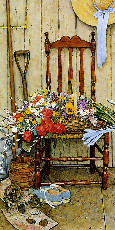 Norman Rockwell Painting of Flowers