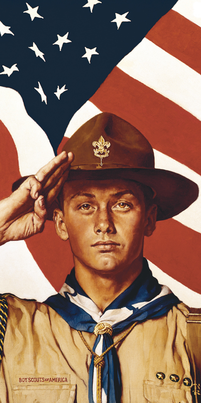 Norman Rockwell Painting of Boy Scout Salute