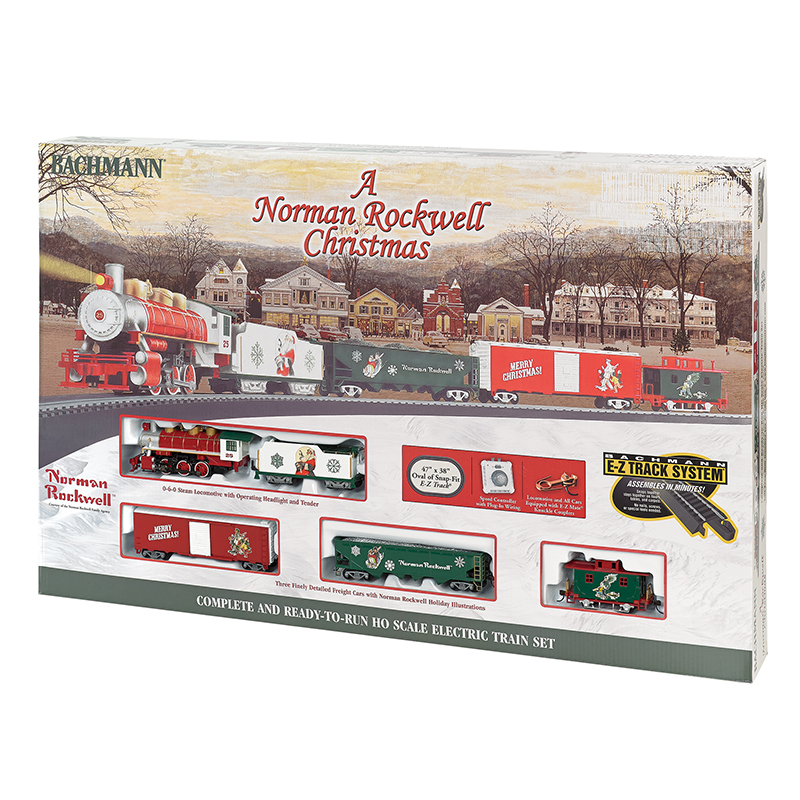 A Norman Rockwell Christmas Train Set