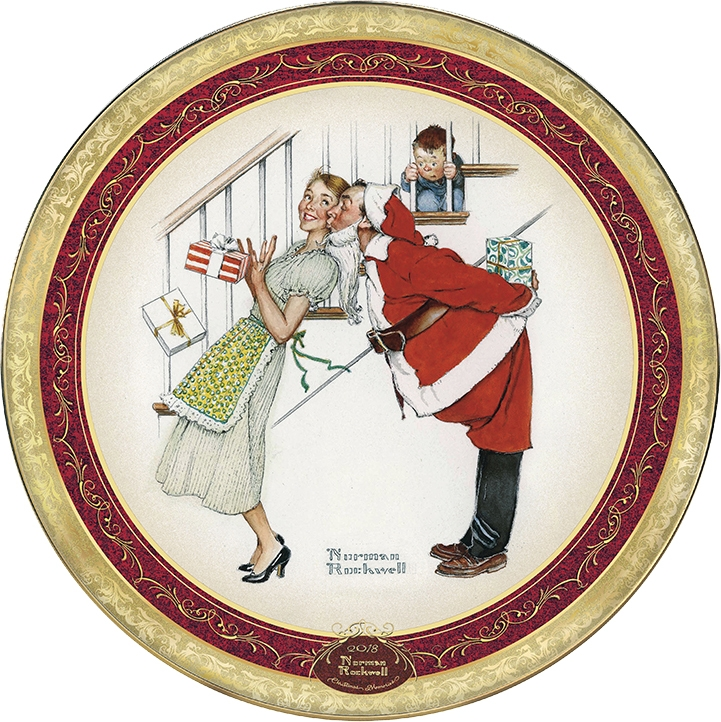 Norman Rockwell Holiday Christmas Paper Plate Painting